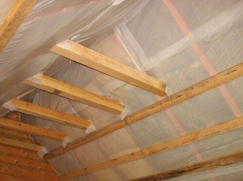 Утепление и параизоляция крыши каркасного дома