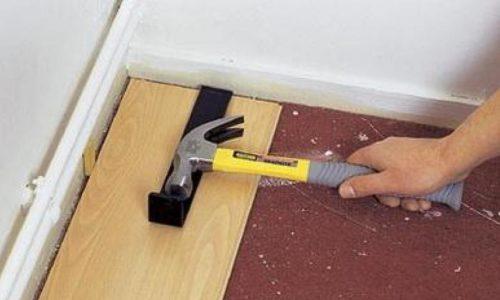 Укладка ламината с угла комнаты