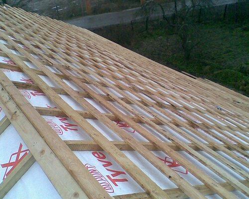 Обрешетка крыши каркасного дома