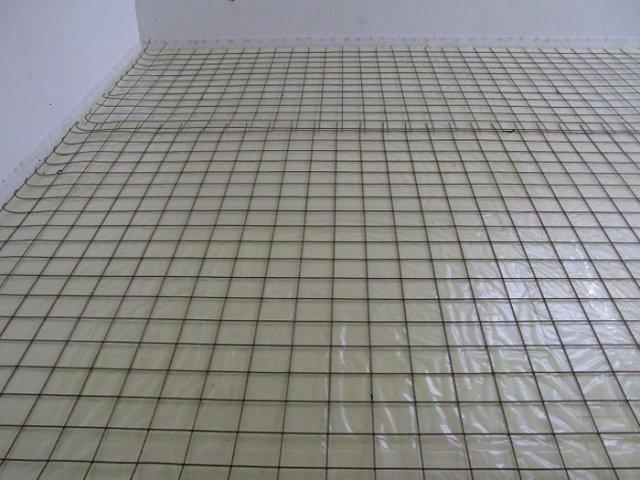 Укладка на пол армированной решетки