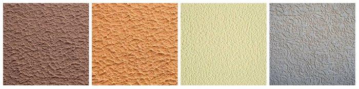 Акриловая декоративная штукатурка - виды текстур