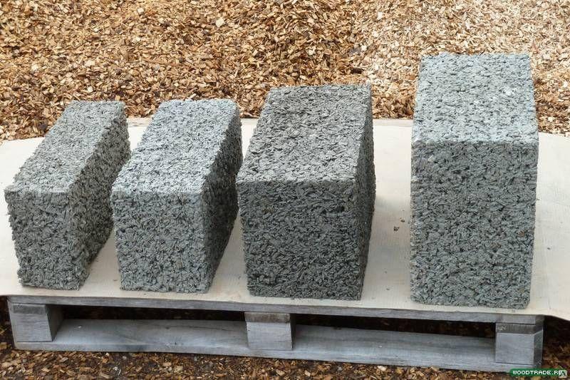Арболитовые блоки разного размера