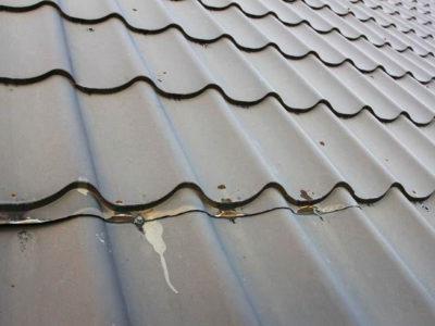 Начало коррозии профнастила для крыши