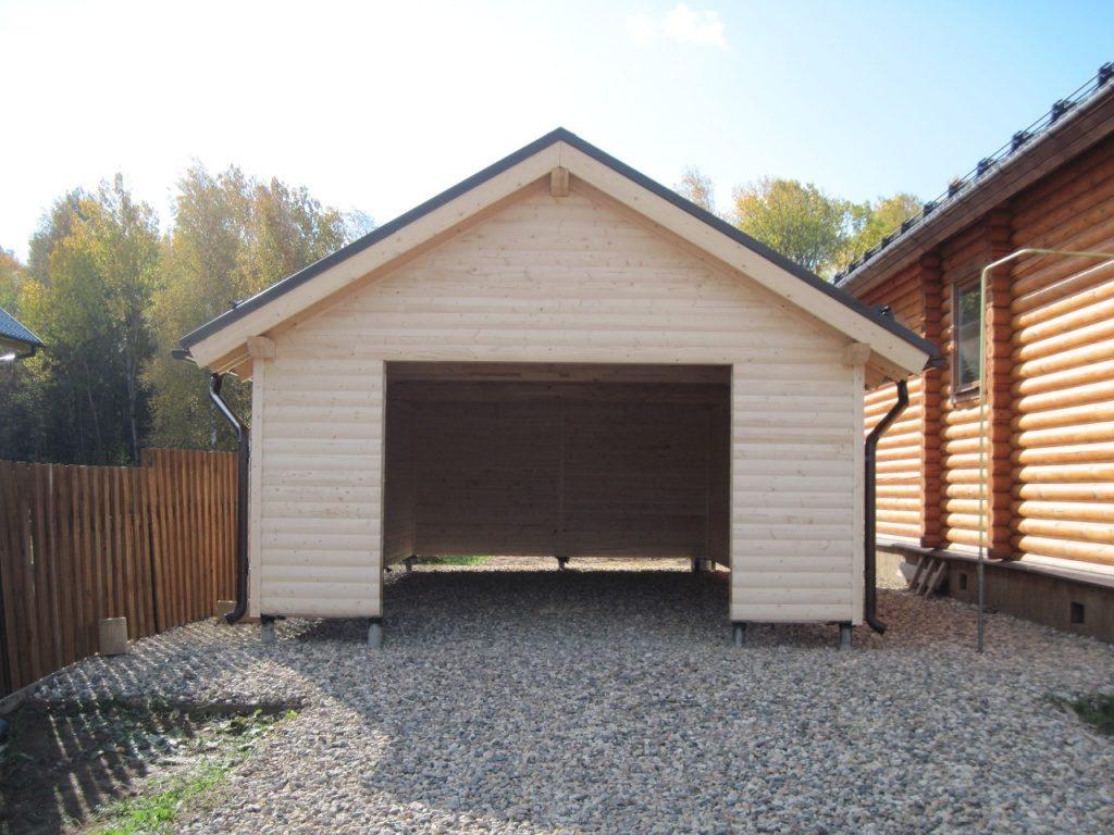 Деревянный дом с гаражом своими руками 875