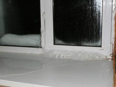 Промерзание пластикового окна