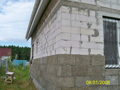 Утепление арболитом газобетонных стен