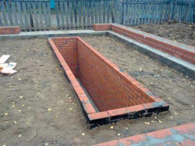 Пример готового фундамента под гараж с смотровой ямой