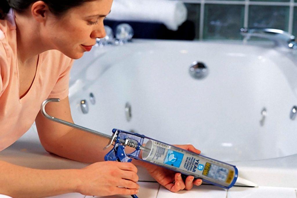 Силиконовый герметик - герметизация ванны
