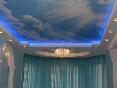 Фото - красивый натяжной потолок