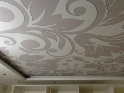 Фото - тканевый натяжной потолок