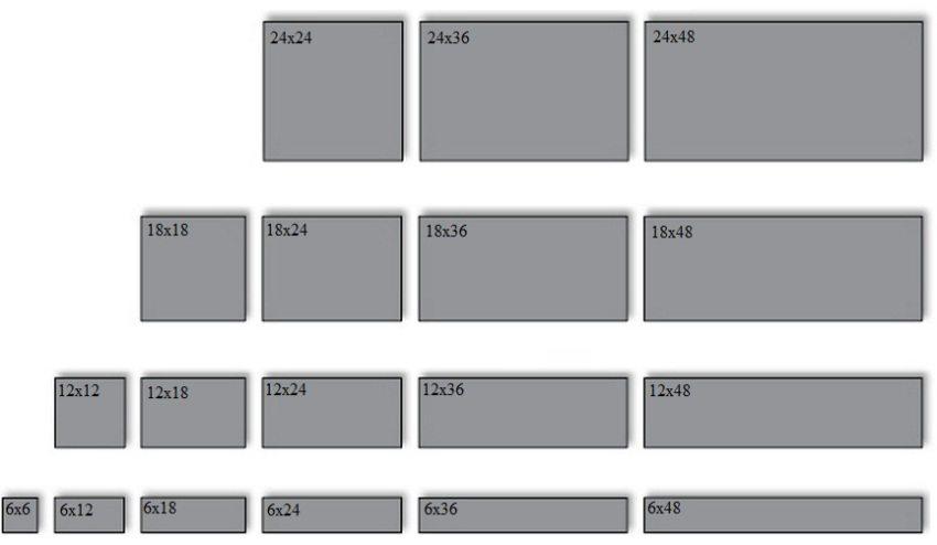 Какие размеры плитки бывают