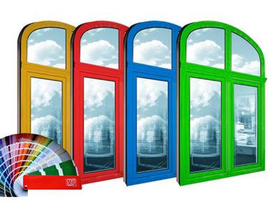 Пластиковые окна могут быть самых различных цветов