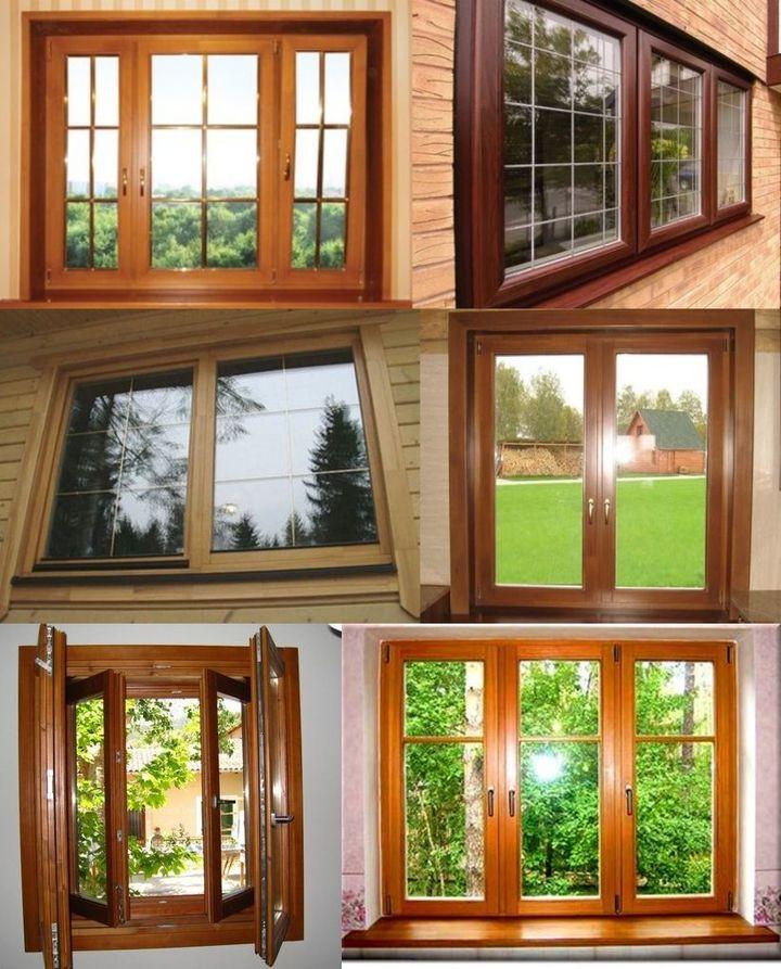 Виды деревянных стеклопакетов