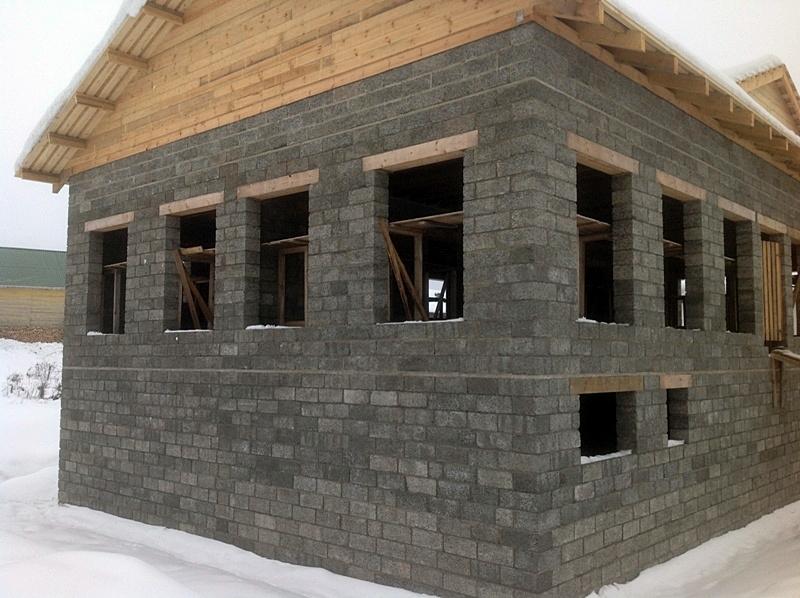 Дом из конопляного бетон