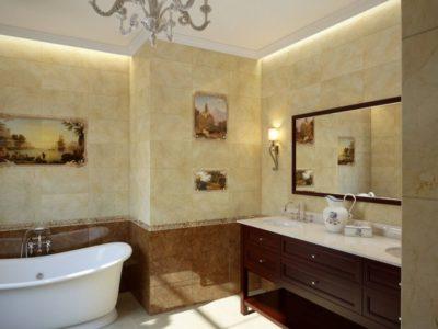 Кафель в ванной - фото