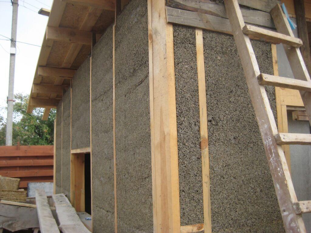 Строительство дома из костробетона