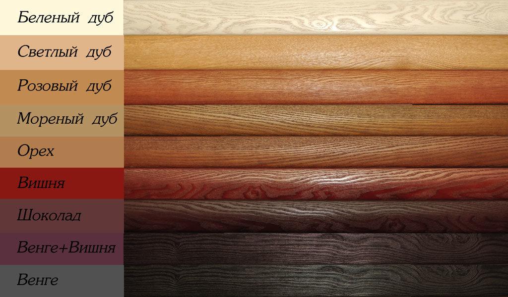 Возможные цвета шпонированной двери