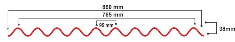 Размеры волны ондулина