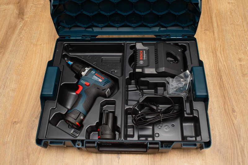 Комплектация шуруповерта Bosch GSR 12V-35 0.601.9H8.002