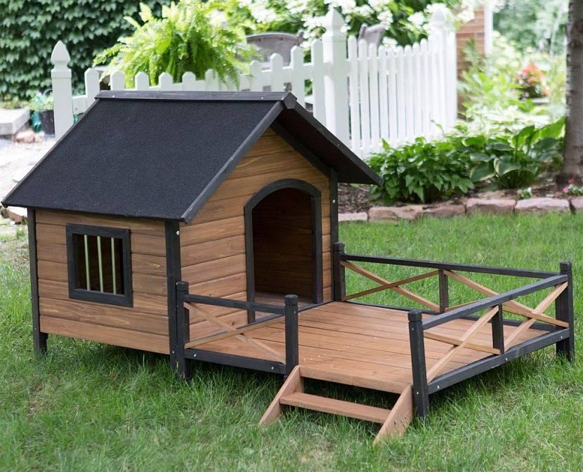 Домик для собаки с террасой