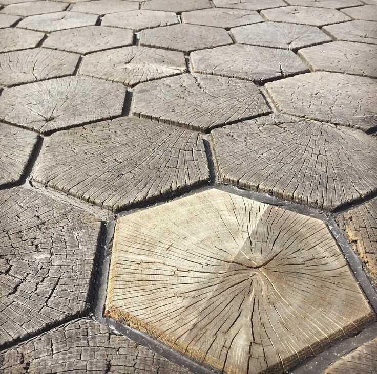Дорожка-мозаика из дерева