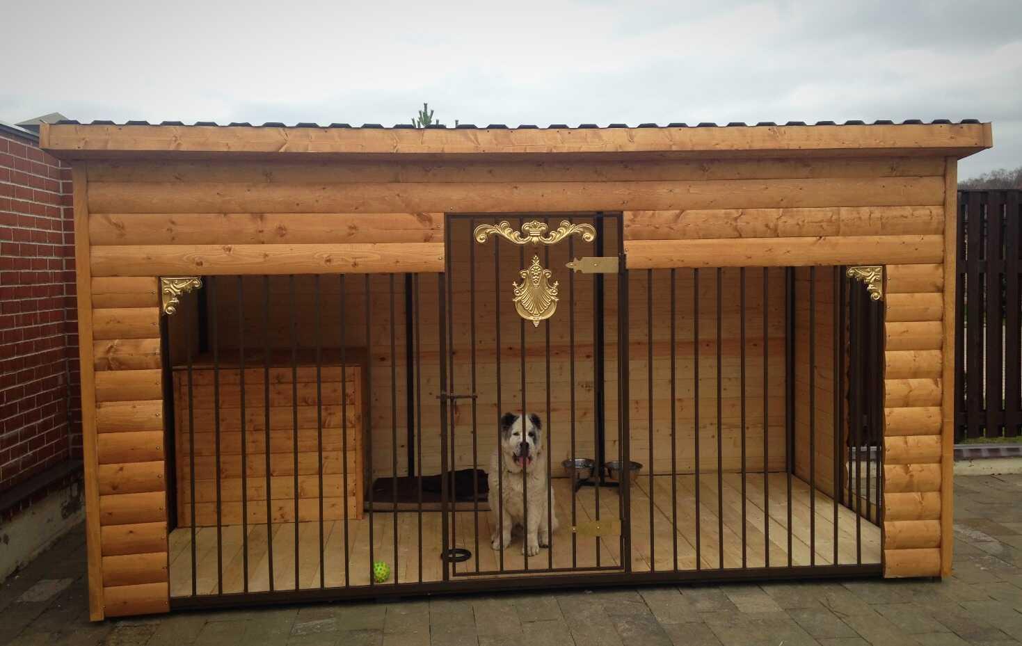 Вольер с будкой для собаки