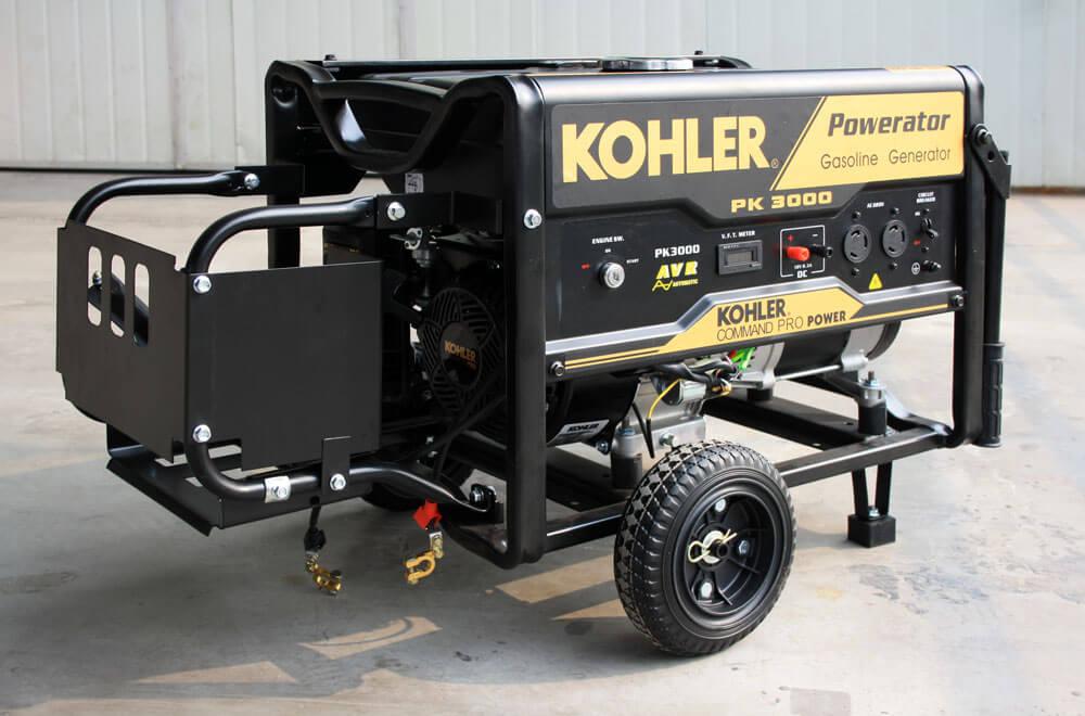 Бензиновый генератор на колёсной паре