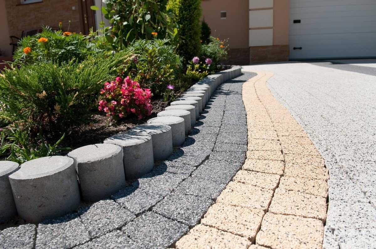 Бордюры для клумб из бетона