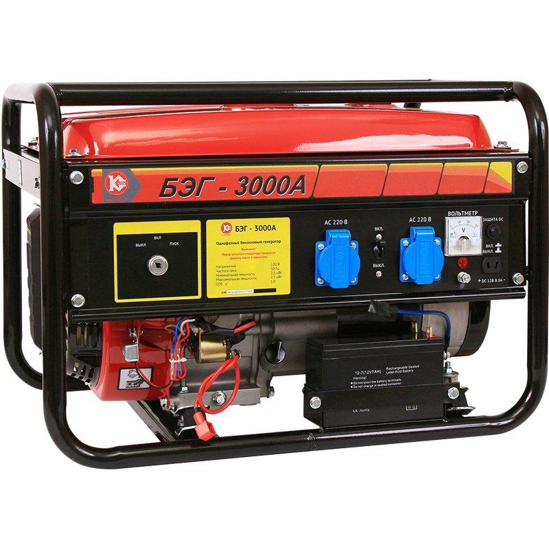 Генератор бензиновый КАЛИБР (БЭГ-3000А)