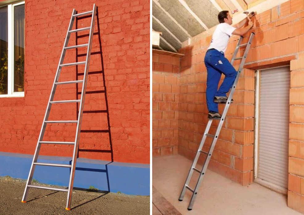 Лестница строительная приставная