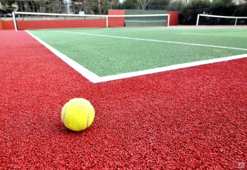 Резиновая крошка на спортивной площадке
