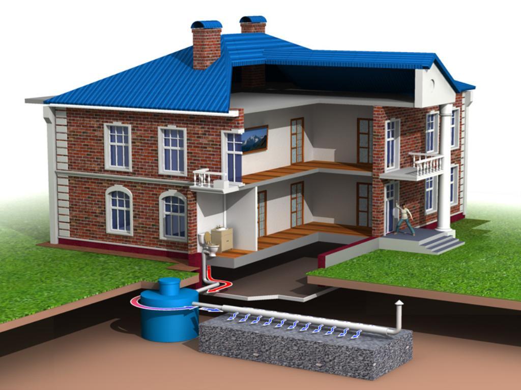Септик в загородном жилом доме