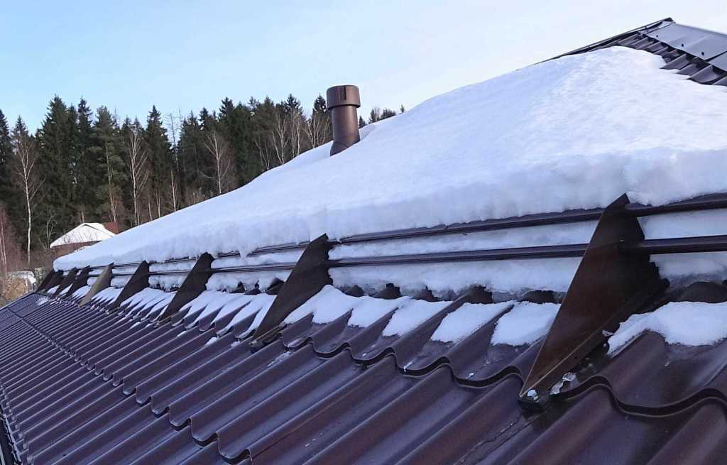 Снегозадержание на крыше