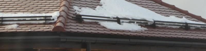 Снегозадержатели на крышу, виды снегозадержателей