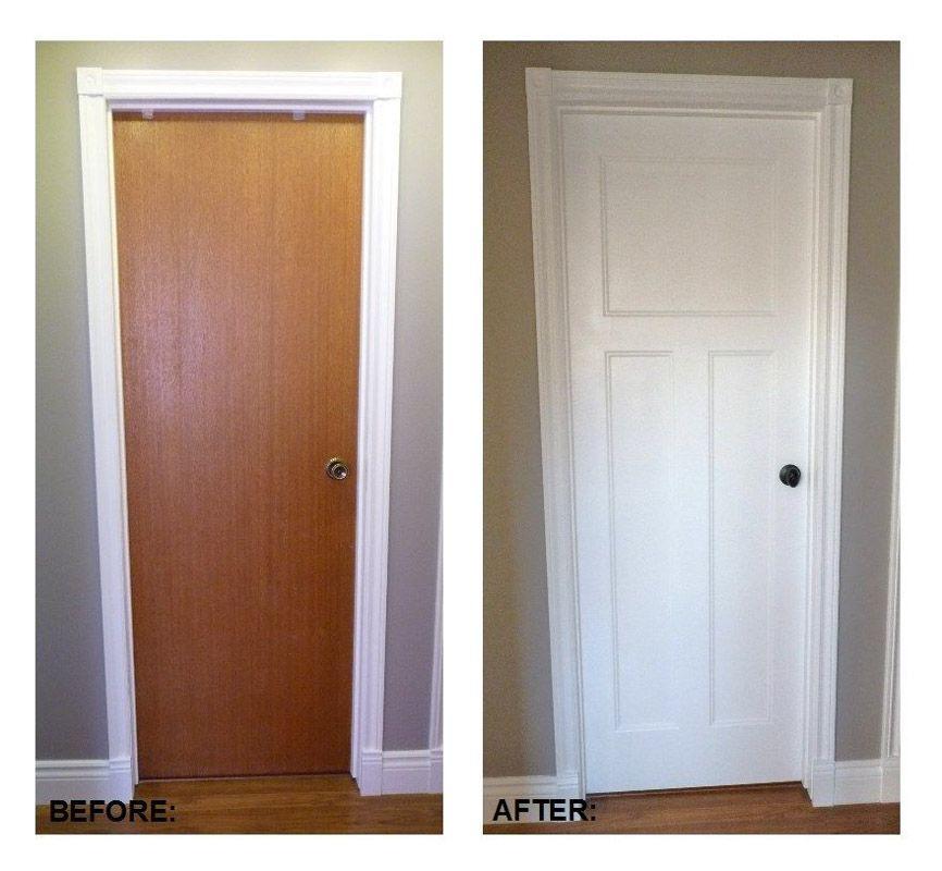 Как преобразить старую дверь?