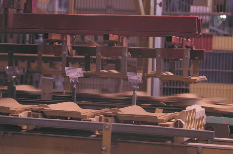 Процесс изготовления керамической черепицы