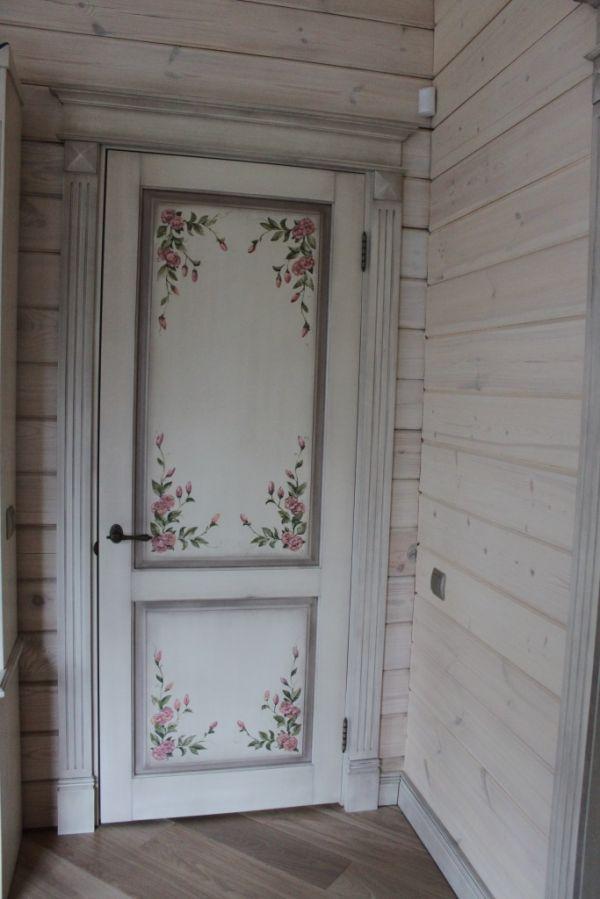 Расписная межкомнатная дверь