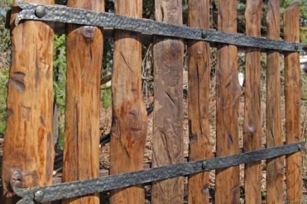 Забор из горбыля