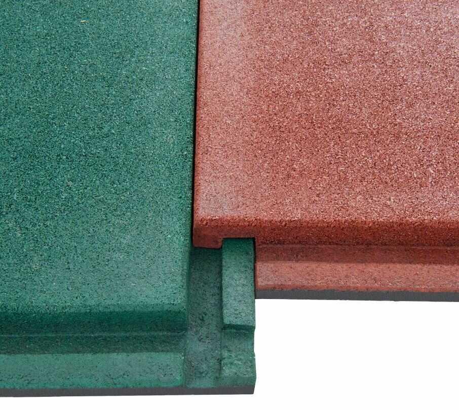 Замковые крепления резиновых плит
