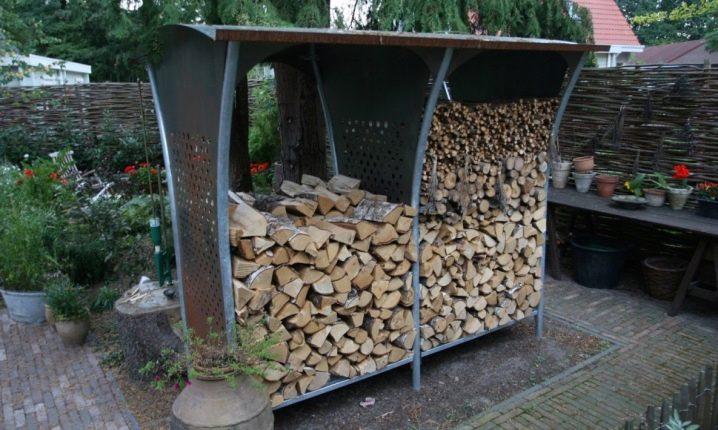 Дровница для хранения дров
