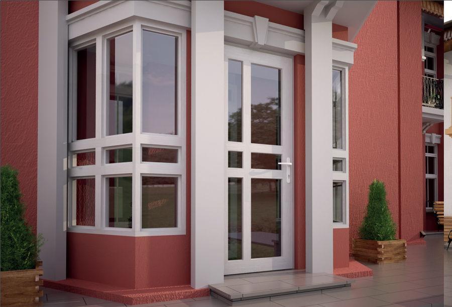 Двери ПВХ со стеклянными вставками