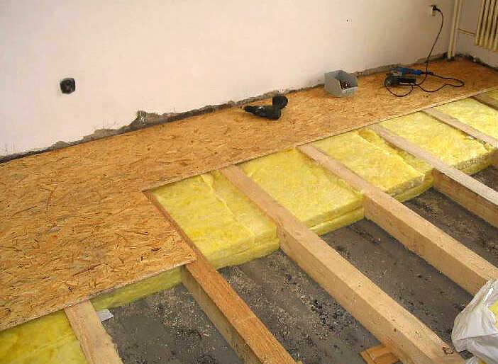 Процесс монтажа чернового покрытия пола с применением плит ОСП