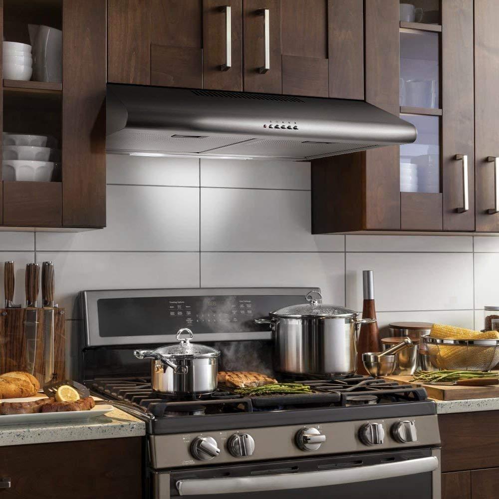 Стандартные размеры кухонной вытяжки